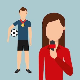 Sport nieuws ontwerp