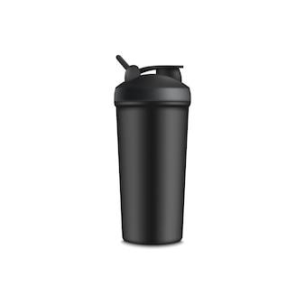 Sport of toeristisch water zwarte cup d realistische afbeelding