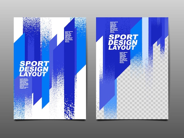 Sport ontwerp lay-out