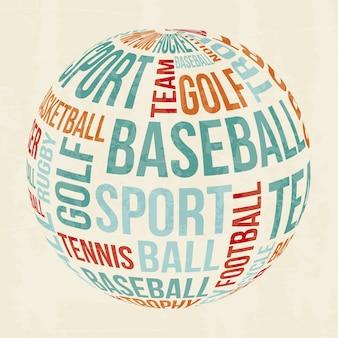 Sport ontwerp over witte achtergrond vectorillustratie