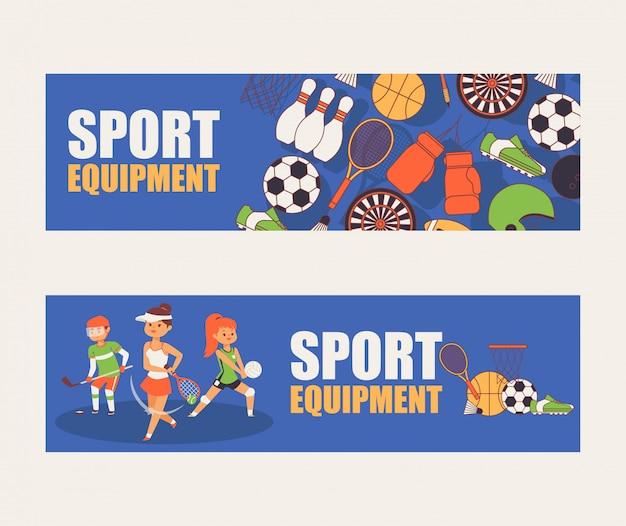 Sport patronenportsman mensen karakter spelen honkbal basketbal voetbalspel illustratie