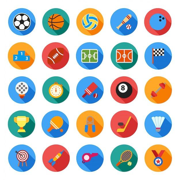 Sport pictogram in vlakke stijl