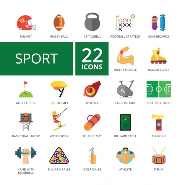 Sport pictogrammen collectie