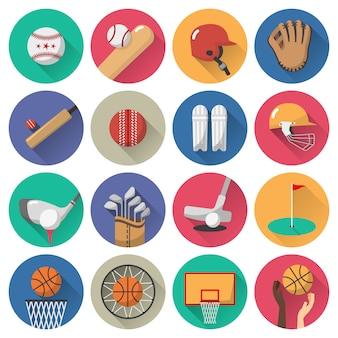 Sport pictogrammen platte set