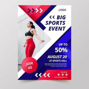 Sport poster evenement met foto