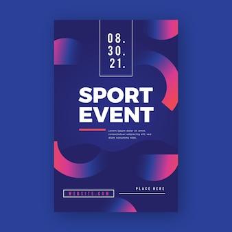 Sport poster met helften van cirkels ontwerp