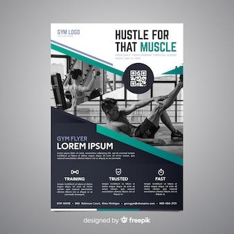 Sport poster sjabloon met foto