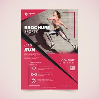 Sport poster stijl hardloopevenement