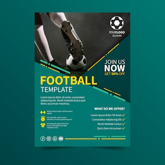 Sport posterontwerp voetbalevenement