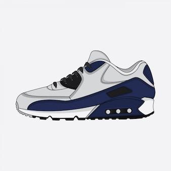 Sport schoenen posterontwerp