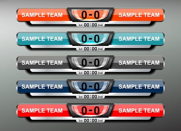 Sport scoreboard broadcast en lower thirds