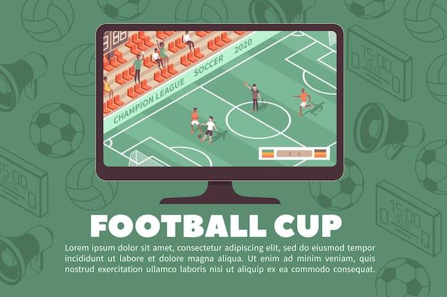 Sport stadion illustratie