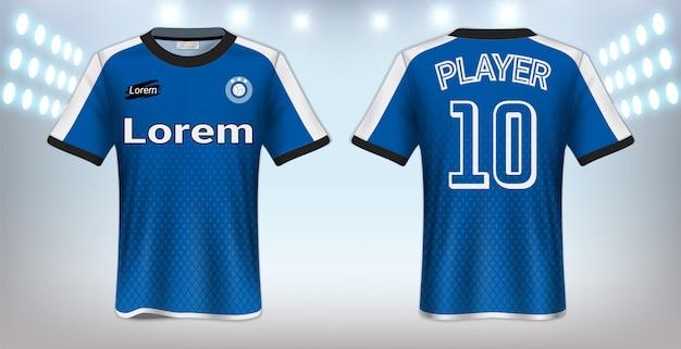 Sport t-shirt sjabloon Premium Vector