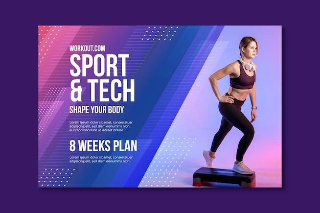 Sport & tech sjabloon voor spandoek