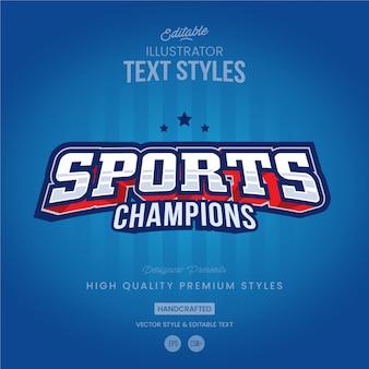 Sport tekststijl