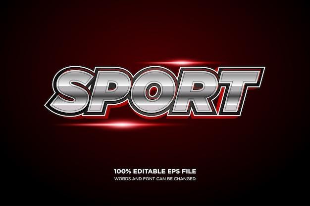 Sport tekststijleffect