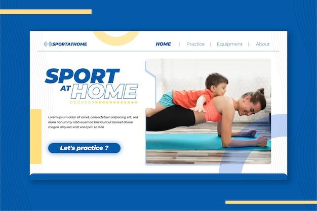 Sport thuis bestemmingspagina