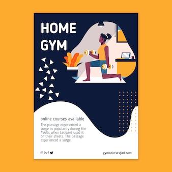 Sport thuis flyer-stijl