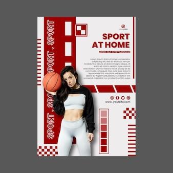 Sport thuis poster sjabloon