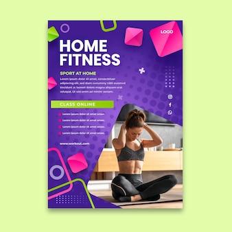 Sport thuis poster Gratis Vector