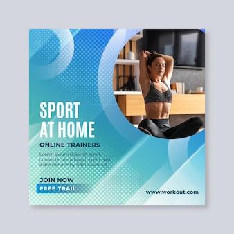 Sport thuis sjabloon folder