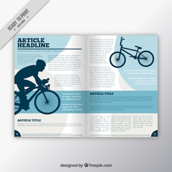 Sport tijdschrift met fietser