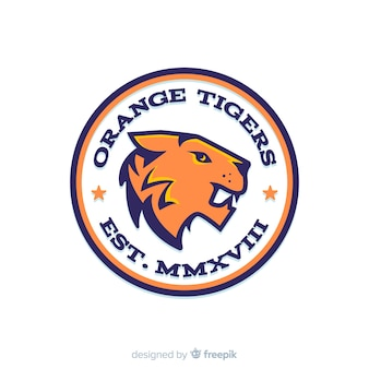 Sport tijger logo sjabloon