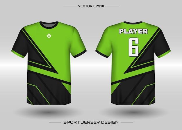 Sport trui ontwerpsjabloon voor voetbalteam