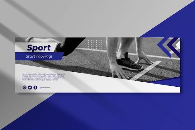 Sport twitter bericht ontwerp