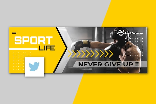 Sport twitter header concept