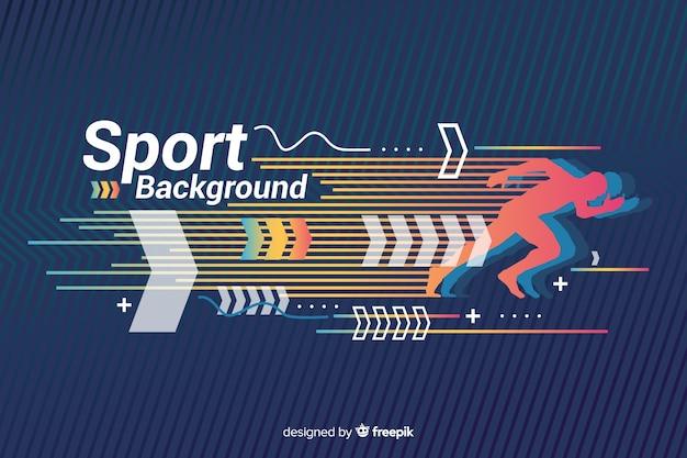 Sportachtergrond met abstract vormenontwerp