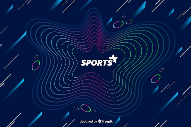 Sportachtergrond met abstracte vormen