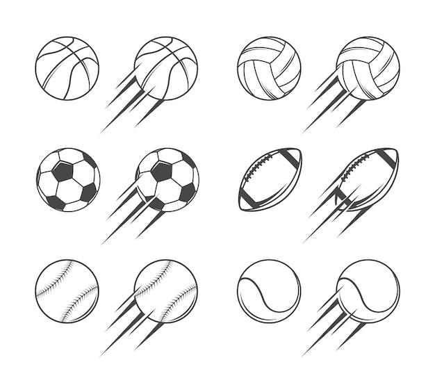 Sportballen illustraties