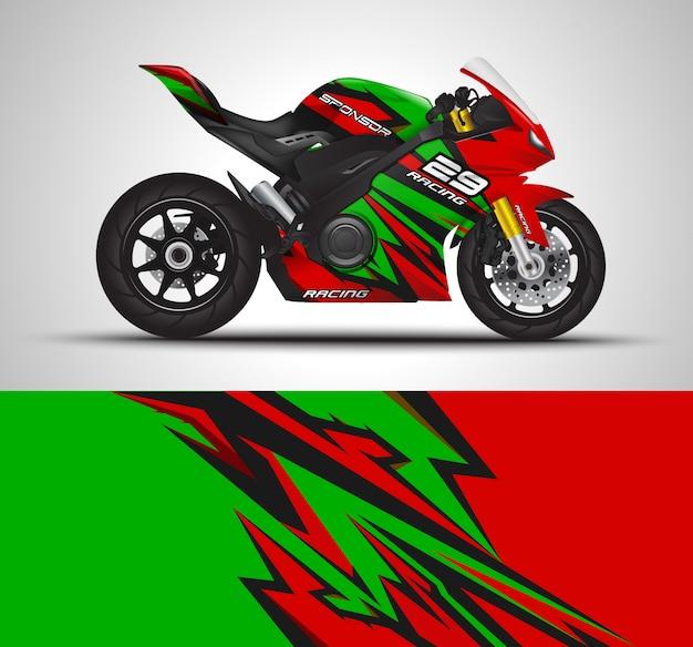 Sportbike motorfiets motorsport en vinyl stickerontwerp