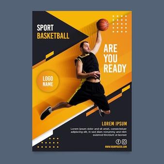 Sportbrochure met foto