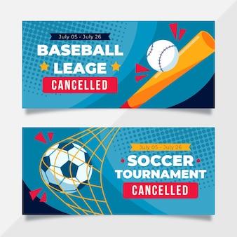 Sportevenement geannuleerde banners
