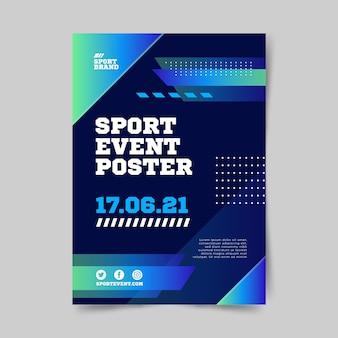 Sportevenement poster sjabloon voor 2021