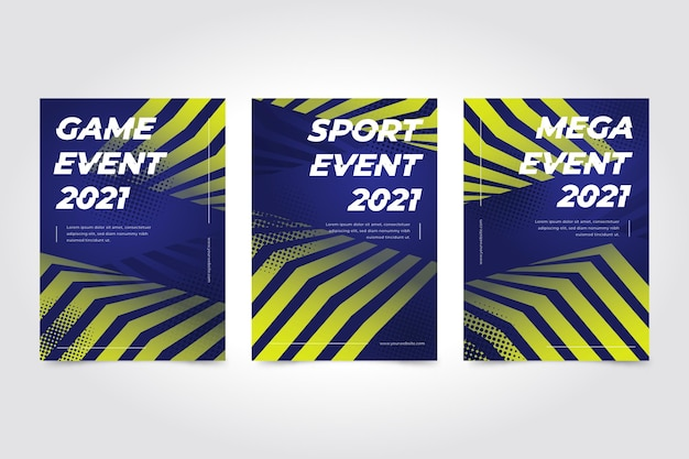 Sportevenement poster sjabloon