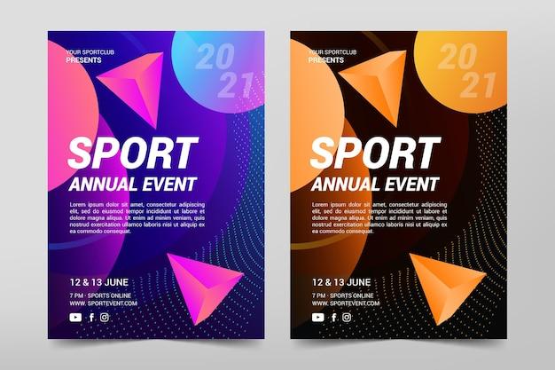 Sportevenement poster sjabloon