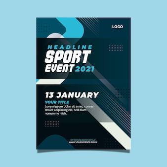 Sportevenement sjabloon voor poster