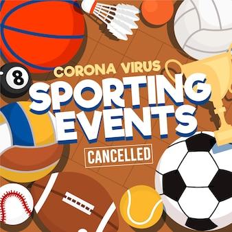 Sportevenementen geannuleerde achtergrond