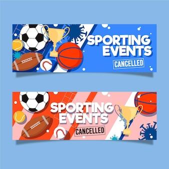 Sportevenementen geannuleerde banners