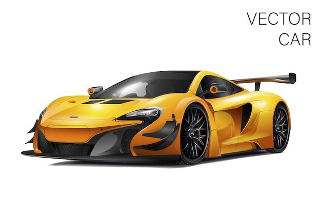 Sportieve auto illustratie