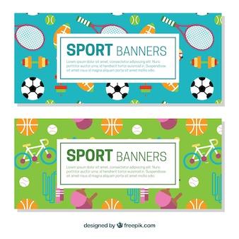 Sportieve elementen banners