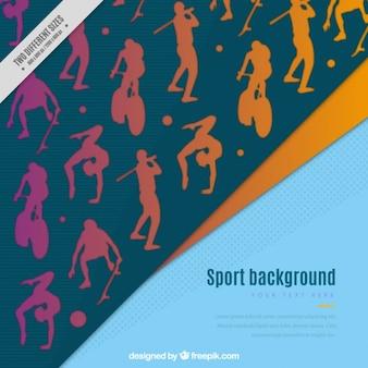 Sportieve silhouetten achtergrond