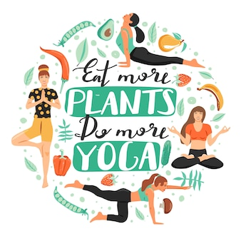 Sportieve vrouwen die yoga beoefenen.