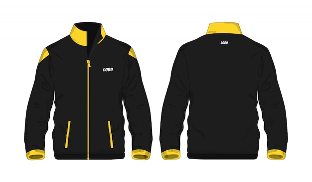 Sportjas geel en zwart t illustratie