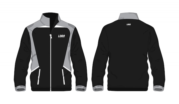 Sportjas grijze en zwarte illustratie