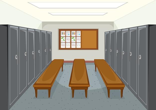 Sportkleedkamer met locker