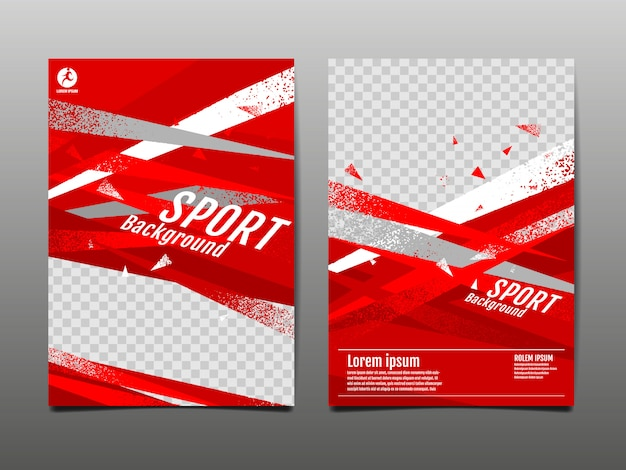 Sportlay-out, sjabloon, abstracte dynamisch